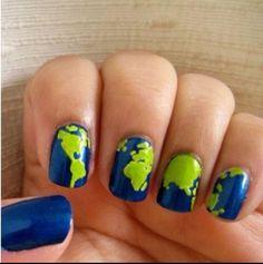 World map nails