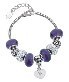 slide bracelet in sterling silver and rose gold raw stone jewellery purple gemstone popcorn bracelet Violet quartz slider bracelet