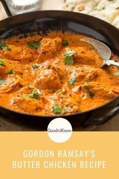Gordon Ramsay's butter chicken Gordon Ramsay's butter chicken recipe is so easy to make at home and tastes delicious too. It includes a butter chicken sauce and spice rub for the chicken. Gordon Ramsay Butter Chicken Recipe, Butter Chicken Rezept, Butter Chicken Sauce, Easy Butter Chicken Recipe, Best Chicken Recipes, Buttered Chicken Recipe, Easy Indian Chicken Recipes, Crockpot Indian Recipes, Healthy Recipes