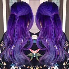"Amanda Lyberger on Instagram: ""This is actually real life %100 no editing (other than making it a mirror pic duh) #americansalon #btccolor15 #behindthechair #dye #dyedhair #dyedgirls #dyeddollies #dollswithdye #dallasstylist #fckinghair #girlswholikegirls #hair #hairposts #hairstyles #hotonbeauty #hairaddiction #hairspiration #hairgramofficial #iamavisualartist #mermaid #mermaidians #modernsalon #pravana #purplehair #pravanavivids #vividhairdesign"""