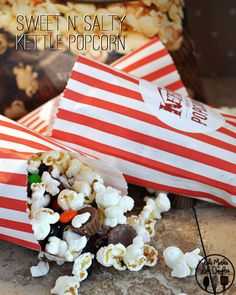 A fun and simple sweet and salty kettle popcorn mix.