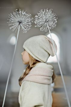 Ombre  hat / white / rose /  girl / children / toddler by Ingugu