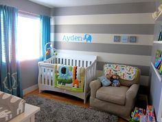 Boy Nursery room with animal theme