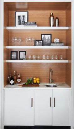 Dry bar idea (of course without the sink!)