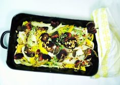 Bio-Gemüse mit Rote Beete Chips