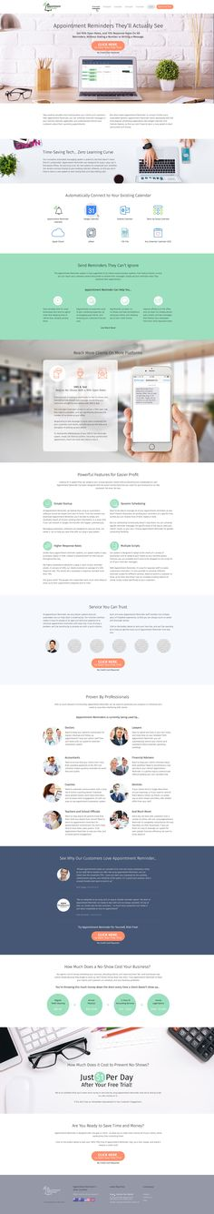 Ознакомьтесь с этим проектом @Behance: «Appointment Reminder - responsive website» https://www.behance.net/gallery/46309941/Appointment-Reminder-responsive-website