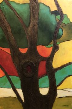 The Tree- Acrylic Painting by Suzanne Connors Graphic Design, Creative, Artist, Painting, Artists, Painting Art, Paintings, Painted Canvas, Visual Communication
