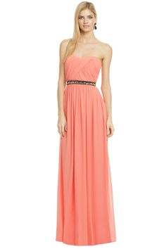 Rent for $100  ERIN by erin fetherston St Martin Getaway Gown  Beatiful peach/coral gown for a bridesmaid