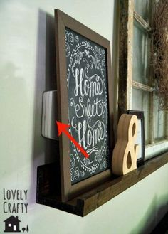 10 Stunning Ways to Organize the Ugliest Stuff - Organization Junkie Hide Thermostat, Thermostat Cover, Living Room Update, Home Living Room, Living Room Designs, Tapas, Doorbell Cover, Diy Wall Shelves, Hallway Decorating