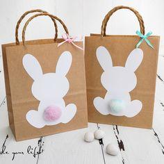 kunterbuntes osterallerlei gifts for him Easter Gift Bags, Easter Presents, Presents For Kids, Gifts For Kids, Bunny Party, Easter Party, Deco Tumblr, Bunny Birthday, Diy Birthday
