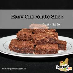 Easy Chocolate slice (only costs $2.80 to make)