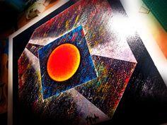 """serie """"Identità""""  I dipinti della serie """"Identità"""" di cui si possono ammirare alcuni esempi di grande forza descrittiva - con al centro la figura del cerchio - si orientano nella ricerca della presa di consapevolezza da parte di un oggetto o forma nel relazionarsi tra spazio e tempo. La presenza del cerchio, quale immagine perfetta in cui inizio e fine coincidono, diventa un luogo privilegiato dove mettersi all'ascolto del sé per ritrovare sentimenti sopiti o dimenticati, qui recuperati."""