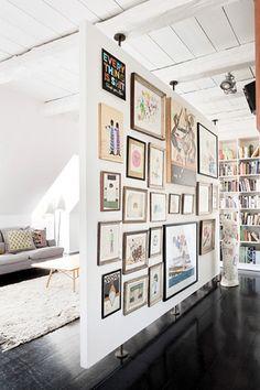 gallery wall room divider
