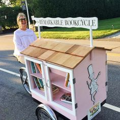 My secret project launched this weekend - a mobile Little Free Library inspired by the old iconic book store that was in my town.