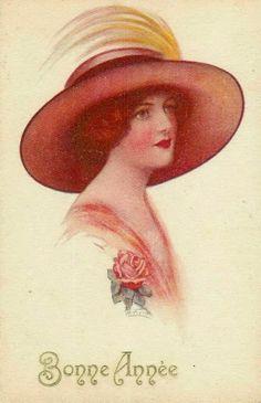 18 mejores imágenes de laminas sombreros  dbdd6955ad6