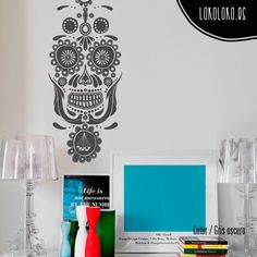 #Vinilodecorativo de una #calaveramexicana / #Mexicanskull #wallsticker