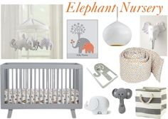 Elephant Nursery Board with Babyletto Hudson 3-in-1 Convertible Crib on the BabyCenter blog!