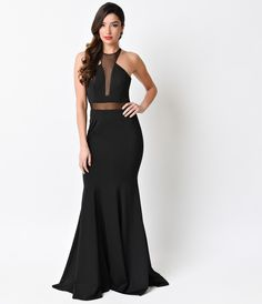Black Sexy Mermaid Long Dress 2016 Prom Dresses