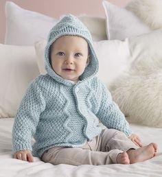 Knitted baby jacket Patons Australia