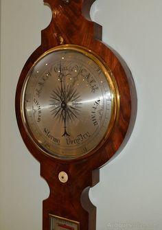 Antiques Atlas - Victorian Mahogany Wheel Barometer