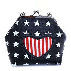 Sweet Women's Crossbody Bag With Heart Shape and Star Print Design