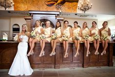 Potomac Point Winery & Vineyard. Love the Yellow Bridesmaids dresses