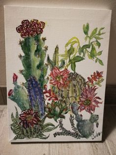 Bunch of cactuses (aquarell paints)
