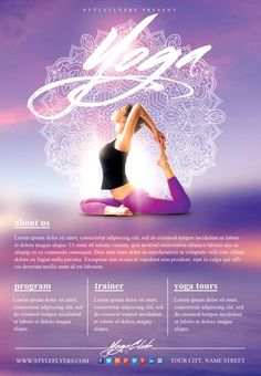 Yoga Flyers Free Template - Yoga Flyers Free Template , Sketches Woman and Florwer Yoga Classes Flyer Vector Cool Poster Designs, Yoga Flyer, Free Yoga Classes, Yoga Lessons, Health Lessons, Free Psd Flyer Templates, Yoga Logo, Workout Posters, Yoga Gym