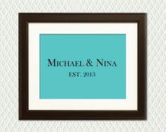 Personalized TIFFANY BLUE Wedding Sign  by myplaceintheworld, $24.00