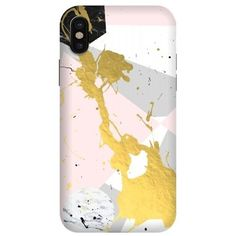 ArtsCase - StrongFit Designers Case for Apple® iPhone® X - Yellow/white/pink/gray/black