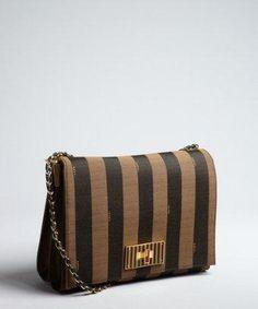 eedd9882d178 Fendi  handbag  purse  clutch zucca canvas
