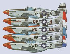 4th Fighter Group North American P-51 Mustang Fighter BFD