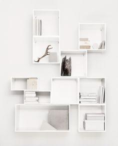 . Interior Inspiration, Room Inspiration, Daily Inspiration, Box Shelves, White Shelves, Interior Decorating, Interior Design, Home And Living, Interior Architecture