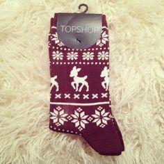Christmas socks by topshop. ♡