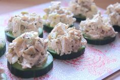 Chicken Salad on Cucumber Rounds This is something I made for lunch as part of our 21 day sugar detox. The only thing I like about my 2 week plan vs the 21 day one is that the 21 day plan only has the food you can and cannot eat. It doesn't have a list …