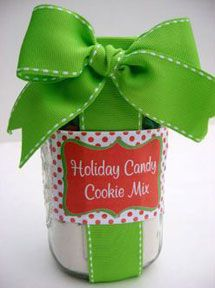 Holiday Candy Cookie Mix in a Jar