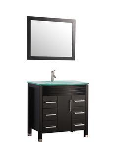 "Figi 48"" Single Sink Bathroom Vanity Set with Mirror | Wayfair"