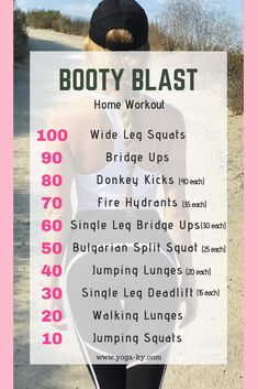 Home booty workout Quick and easy fitness workout - Home Exercise Routines, At Home Workout Plan, At Home Workouts, Workout Plans, Sixpack Abs Workout, Squat Workout, Bed Workout, Workout Board, Workout Tips
