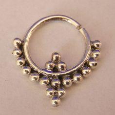 Verziert Silber Septum für Pierced Nase  Nase Schmuck  von RONIBIZA