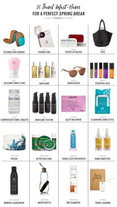 20 Travel Essentials For a Perfect Spring Break (Hello Glow) Smash Book, Spring Break, Bff, Iphone Lens, Travel Essentials For Women, Travel Necessities, Spring Vacation, Cruise Vacation, Vacation Trips