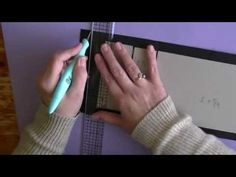 """Part 1 tutorial """"Yes Another Mini"""" COVER LOVE THE TUTORIAL FOR MAKING CHIP BOARD COVERS"""