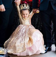 """248 Likes, 12 Comments - Alora Safari Couture Designs (@alorasafari) on Instagram: """"@rh_interior_designs precious princess in our gold dress with pink accents. available for custom…"""""""
