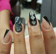 """""""Happy Friday ^-^ #nailstagram #nailporn #nails #nailswag #nail #notpolish #coffinnails #naildesigns #naildesign"""""""