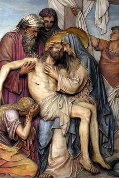 Stations of the Cross - Franciscan Friars of the Atonement Jesus Christ Painting, Jesus Art, Christian Images, Christian Art, Tamil Christian, Religious Images, Religious Art, La Pieta, Jesus Mary And Joseph