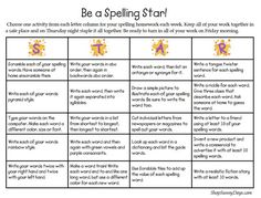 Free spelling contract. Literacy embedded into the curriculum. Good for consolidating understanding of new 'jargon' words in a subject.