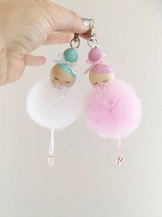 Süße Idee ❤ Anhänger für die Handtasche basteln l Ballerina bag charm | Sc... - Women Fashion Ideas
