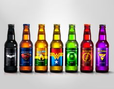 Justice League Brewery Super Hero Beers by Marcelo Rizzetto