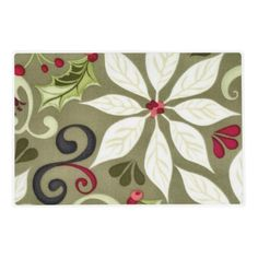 Christmas Floral pattern laminated paper place mat Laminated Placemat