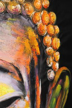 Buddha art oil Painting large hand made oil by BuddhaOilPaintings Budha Painting, Black Art Painting, Love Painting, Buddha Face, Buddha Zen, Canvas Painting Designs, Canvas Art, Spa Art, Spiritual Paintings