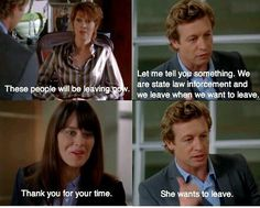 The Mentalist - Definitely one of my absolute favorite shows